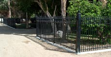Perimeter Gate Custom Home Fence