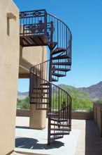 Wrought Iron Spiral Staircase - Iron Scroll of Yuma